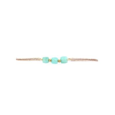 Bracelet Marion 3 pierres amazonite
