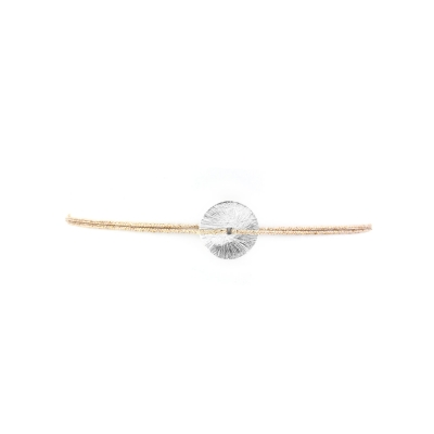 Bracelet rondelle argent