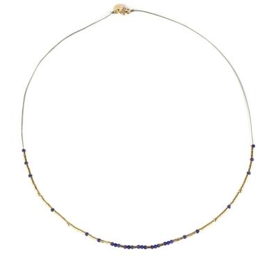 Collier Lou tubes et lapis lazuli