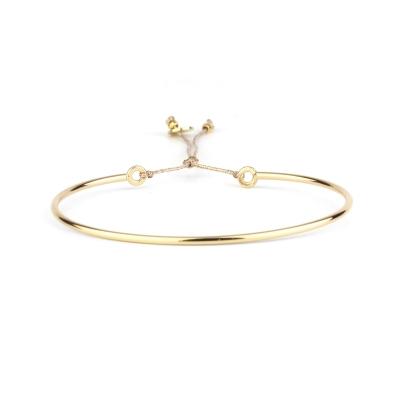 Bracelet fin lisse doré