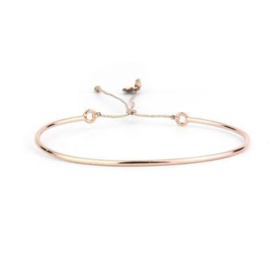 Bracelet fin lisse doré or rose