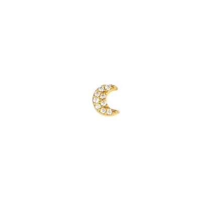 Boucle d'oreille Lune cristal