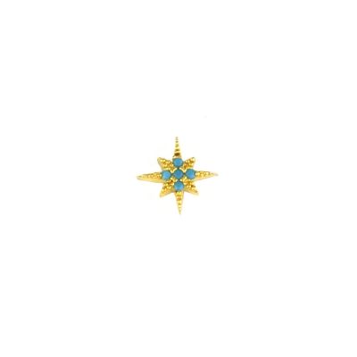 Boucle d'oreille Etoile turquoise