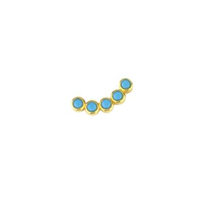 Boucle d'oreille incurvée turquoise gauche