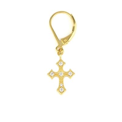Mini créole Croix cristal