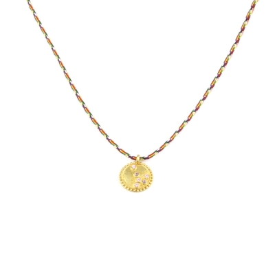 Collier Constellation rose