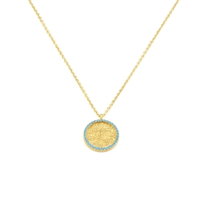 Collier cercle turquoise