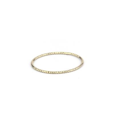 Bague fine diamantée plaquée or