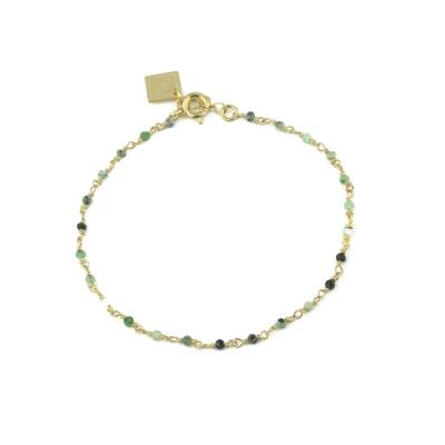 Bracelet Dumbo rubis zoisite doré à l'or fin