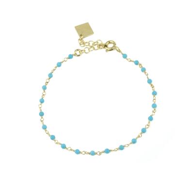 Bracelet Dumbo turquoise doré à l'or fin