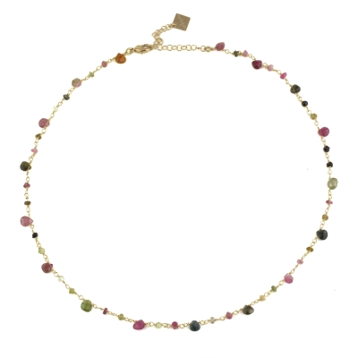 Collier Chamarel tourmaline doré à l'or fin