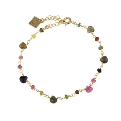 Bracelet Chamarel tourmaline doré à l'or fin