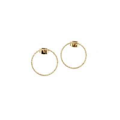 Boucles d'oreilles Sophie dorées à l'or fin