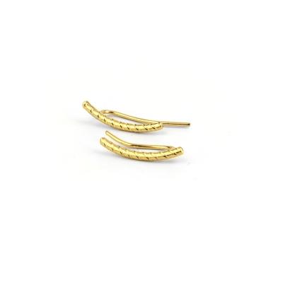 Boucles d'oreilles climbers Wheel dorées à l'or fin