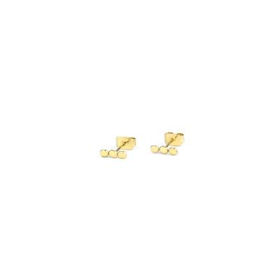 Boucle d'oreille Pépites dorée