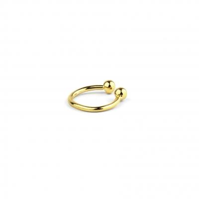 Mini Cuff simple lisse doré à l'or fin