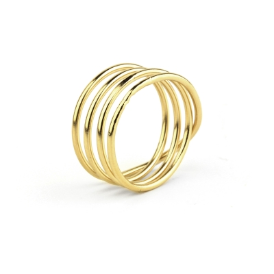 Bague Loop 4 dorée à l'or fin