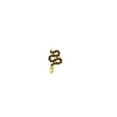 Boucle d'oreille Serpent noire droite