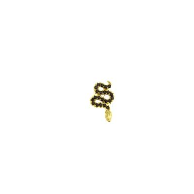 Boucle d'oreille Serpent noire gauche