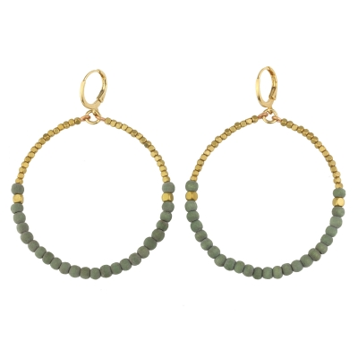 Boucles d'oreilles ARUBA Olive