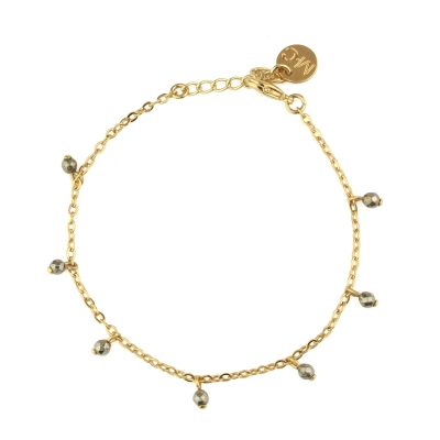 Bracelet IDRA pyrite