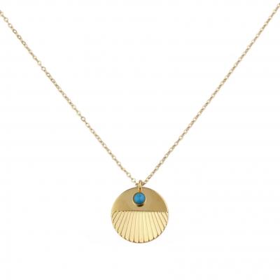 Collier Nyx Turquoise doré à l'or fin
