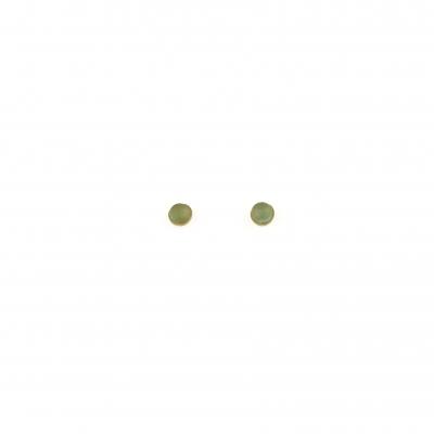 Boucles d'oreilles puces Nyx Aventurine dorées à l'or fin