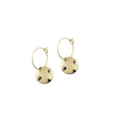 Boucles d'oreilles Belharra dorées à l'or fin