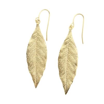 Boucles d'oreilles Cléo dorées à l'or fin