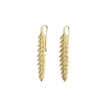 Boucles d'oreilles Ceres dorées à l'or fin