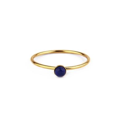 Bague Nyx Lapis-lazuli plaquée or