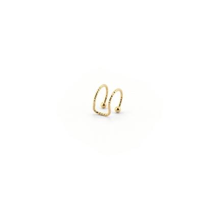 Mini Cuff double diamanté doré à l'or fin
