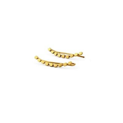 Boucles d'oreilles climbers Pépites dorées à l'or fin