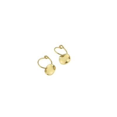 Petites boucles d'oreilles Belharra dorées à l'or fin