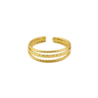 Bague Amorgos plaquée or