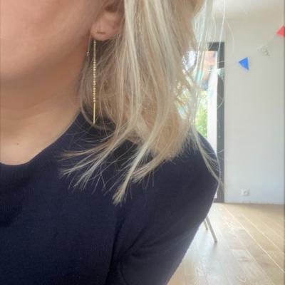 Boucles d'oreilles Mint dorées à l'or fin