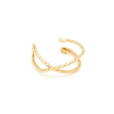 Faux piercing Eclat Croisé Or jaune