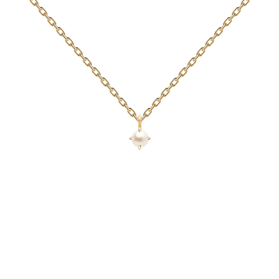 Collier Solitary Pearl Or